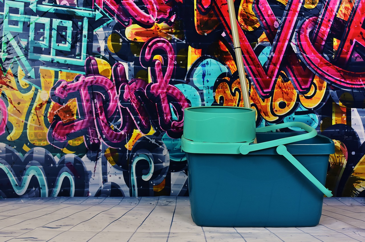 limpiar un graffiti